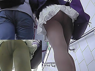 Awesome candid upskirts with..